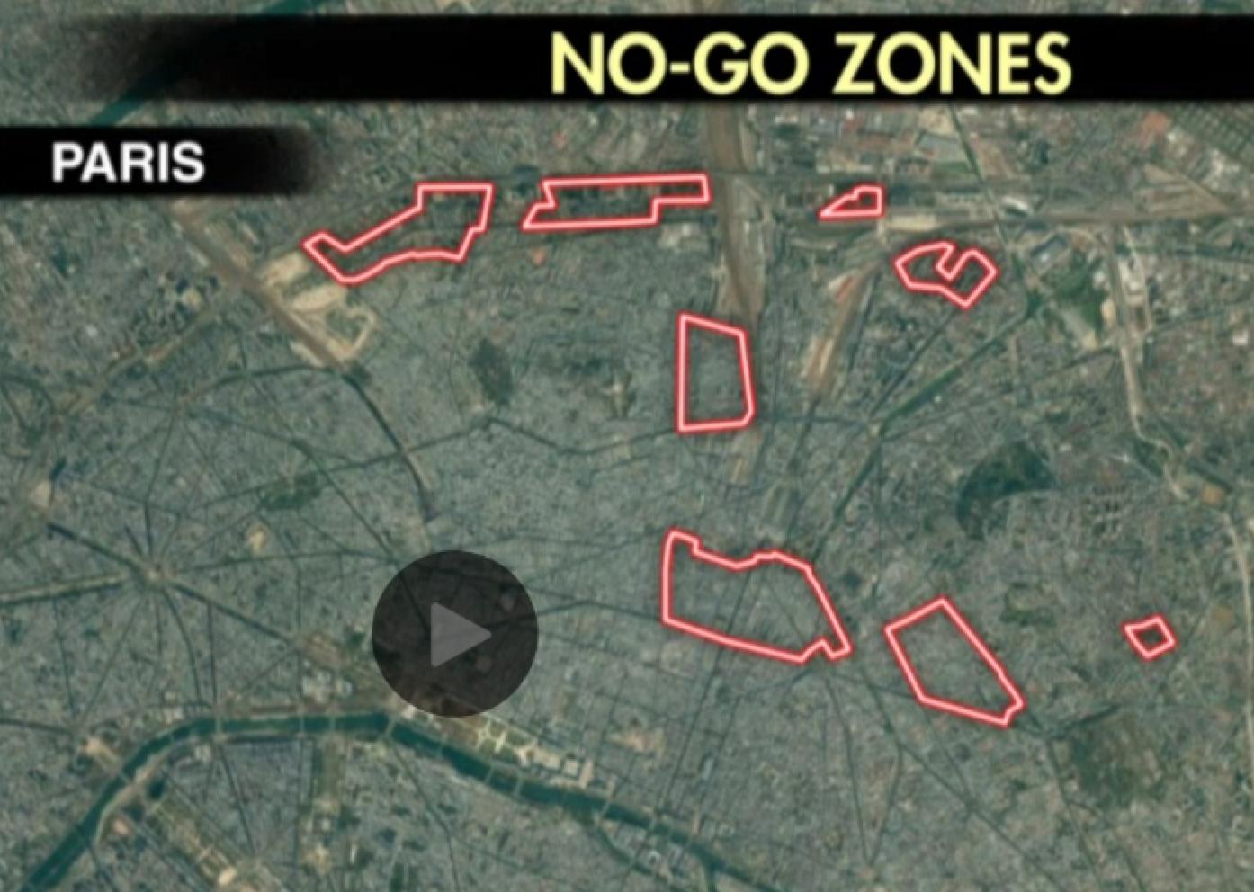 Pariisin no-go-alueet Fox Newsin mukaan