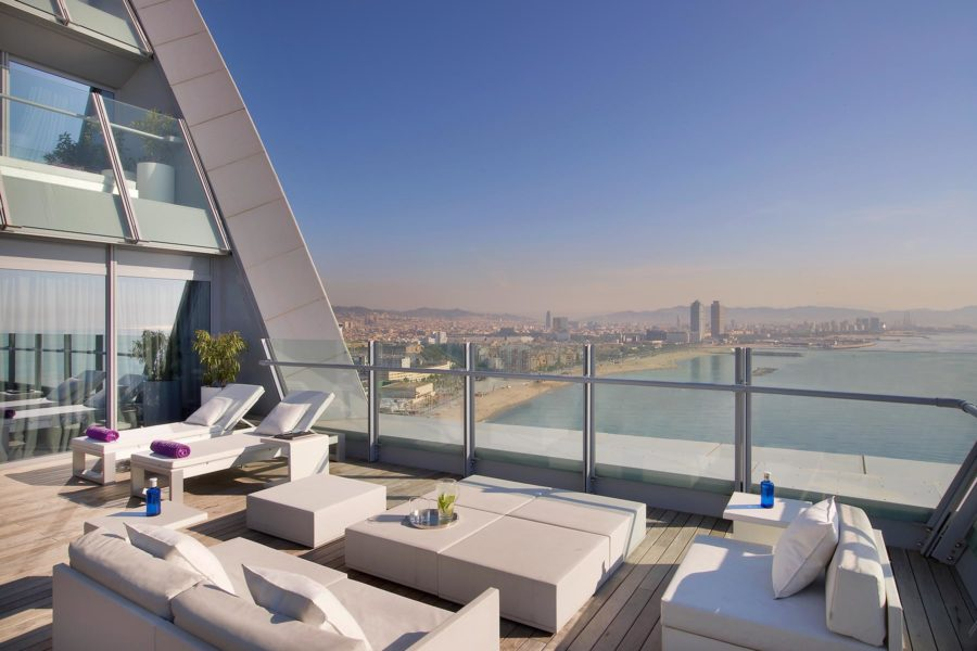 Spectacular-sviitin terassi. © W Barcelona