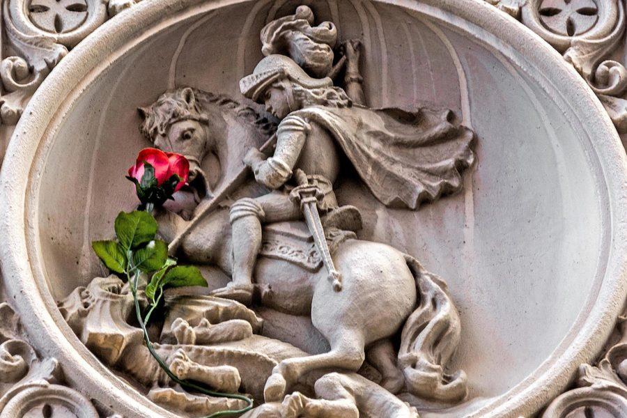 Legendan mukaan Sant Jordi tappoi lohikäärmeen. Kuva: Sant Jordi, CC BY-ND 2.0