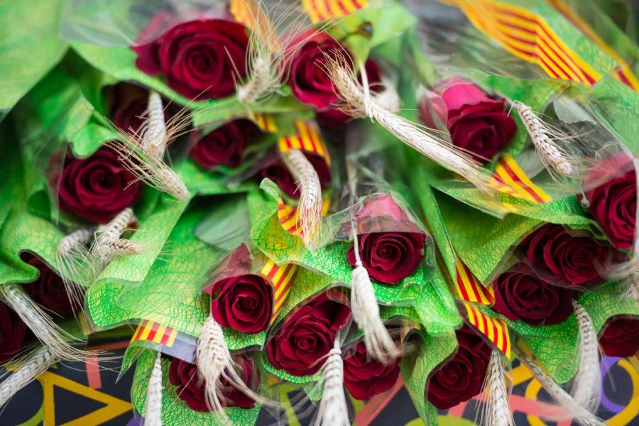 Sant Jordin päivän ruusuja. Kuva: Miquel Coll, Palau Robert, flickr.com, CC BY-ND 2.0