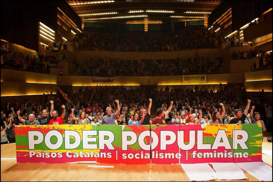 CUP on vasemmistolainen itsenäisyyspuolue. Kuva: ©CUP Països Catalans