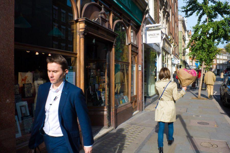 Daunt Books -kirjakaupan edusta Marylebone High Streetillä ©Milla Kontkanen