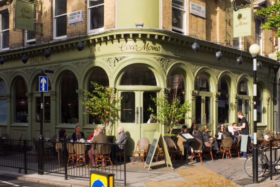 Baari Marylebone High Streetillä ©Milla Kontkanen
