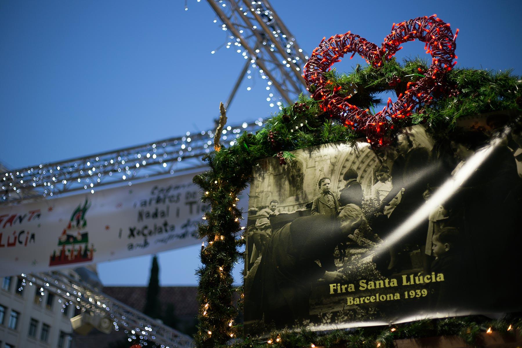 Santa Llúcian joulumarkkinoilla on pitkä perinne. © tripsteri.fi / Tuulia Kolehmainen
