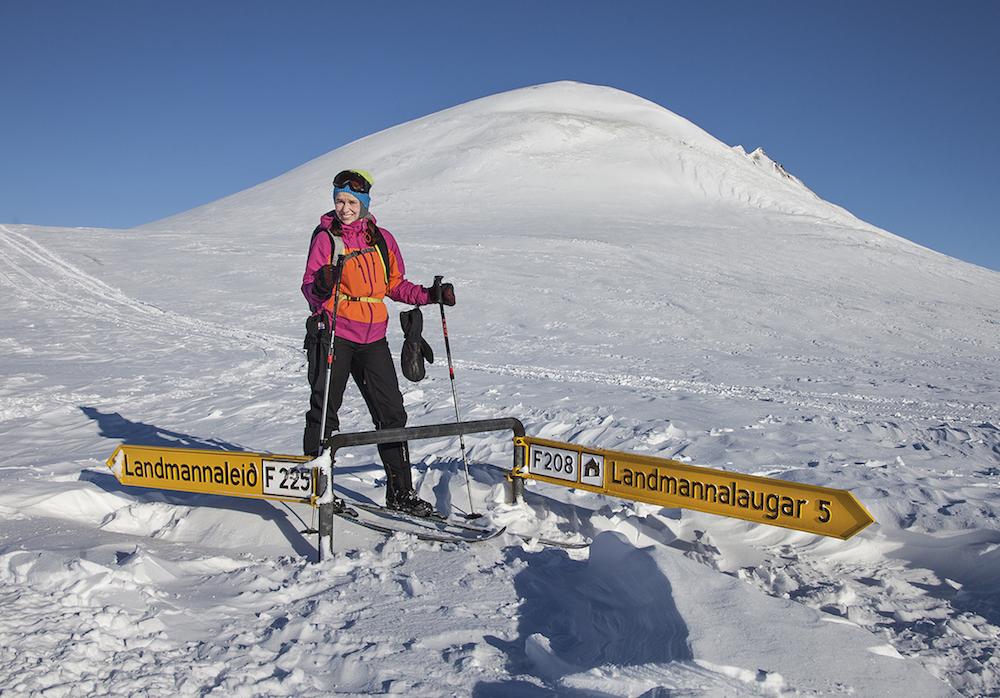 Landmannalaugariin voi tulla myös talvella, mutta silloin hiihtäen tai erikoisvarustellulla jeepillä. Hiihtoretkiä järjestää mm. Icelandic Mountainguides. Kuva: Björgvin Hilmarsson.
