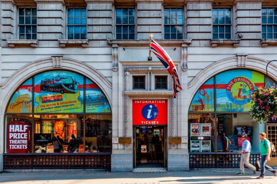 Original Tourin toimisto Trafalgar Squaren lähellä © The Original Tour