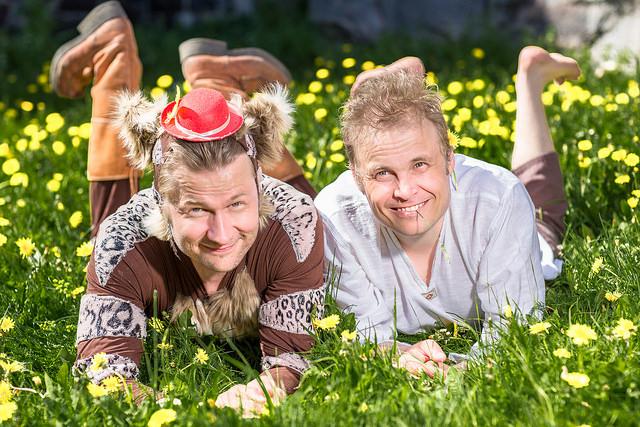 Saapasjalkakissa ja myllärinpoika Kuva: Ingemar Raukola.