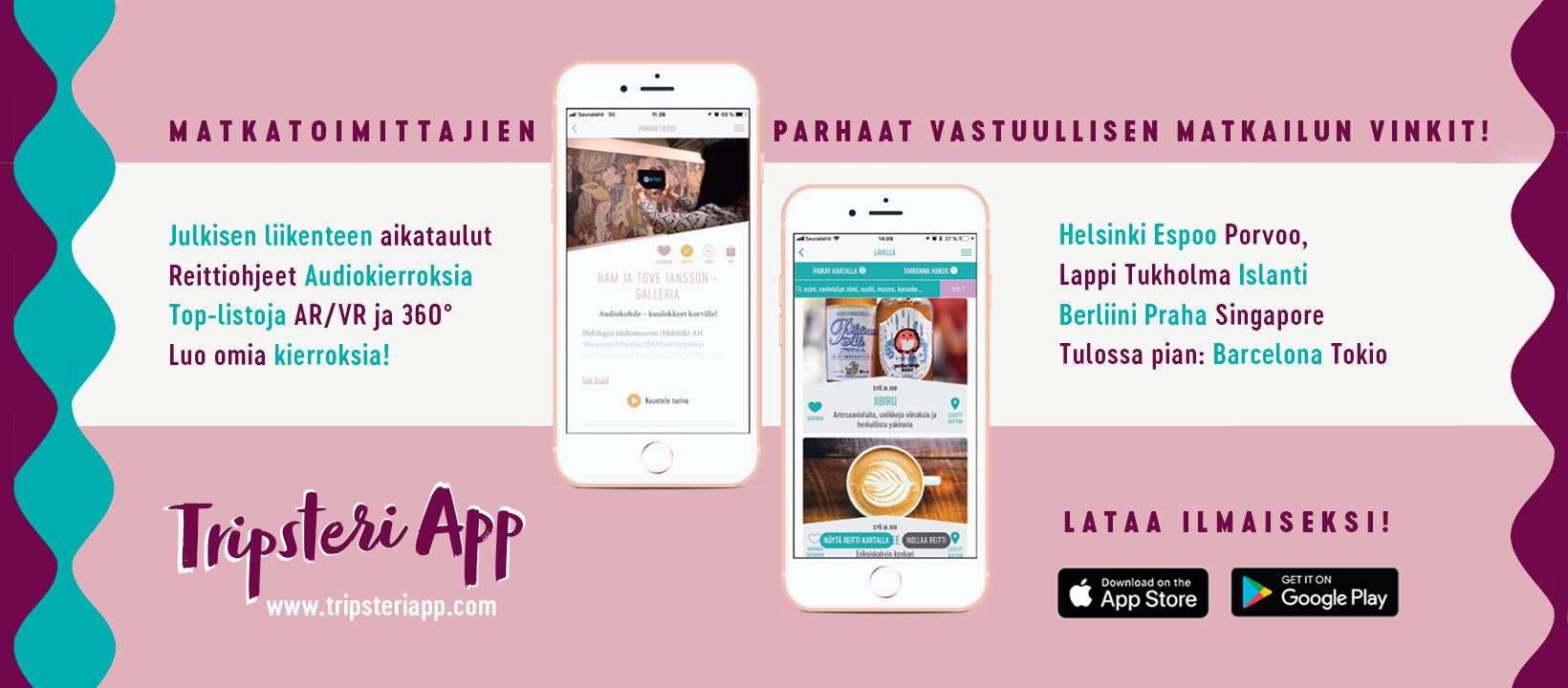 Tripsteri App -matkasovellus