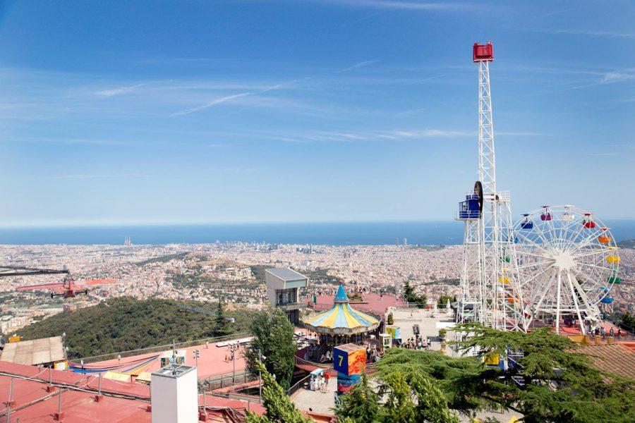 Barcelonan Tibidabo-vuori on kaupungin maamerkki. © tripsteri.fi / Tuulia Kolehmainen