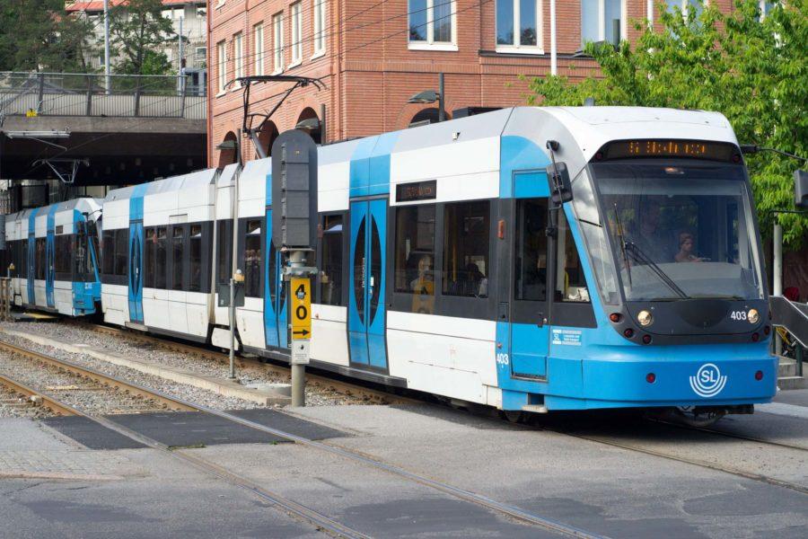 Tukholman raitiovaunu Tvärbanan. Kuva: kaffeeeinstein, www.flickr.com, CC BY-SA 2.0