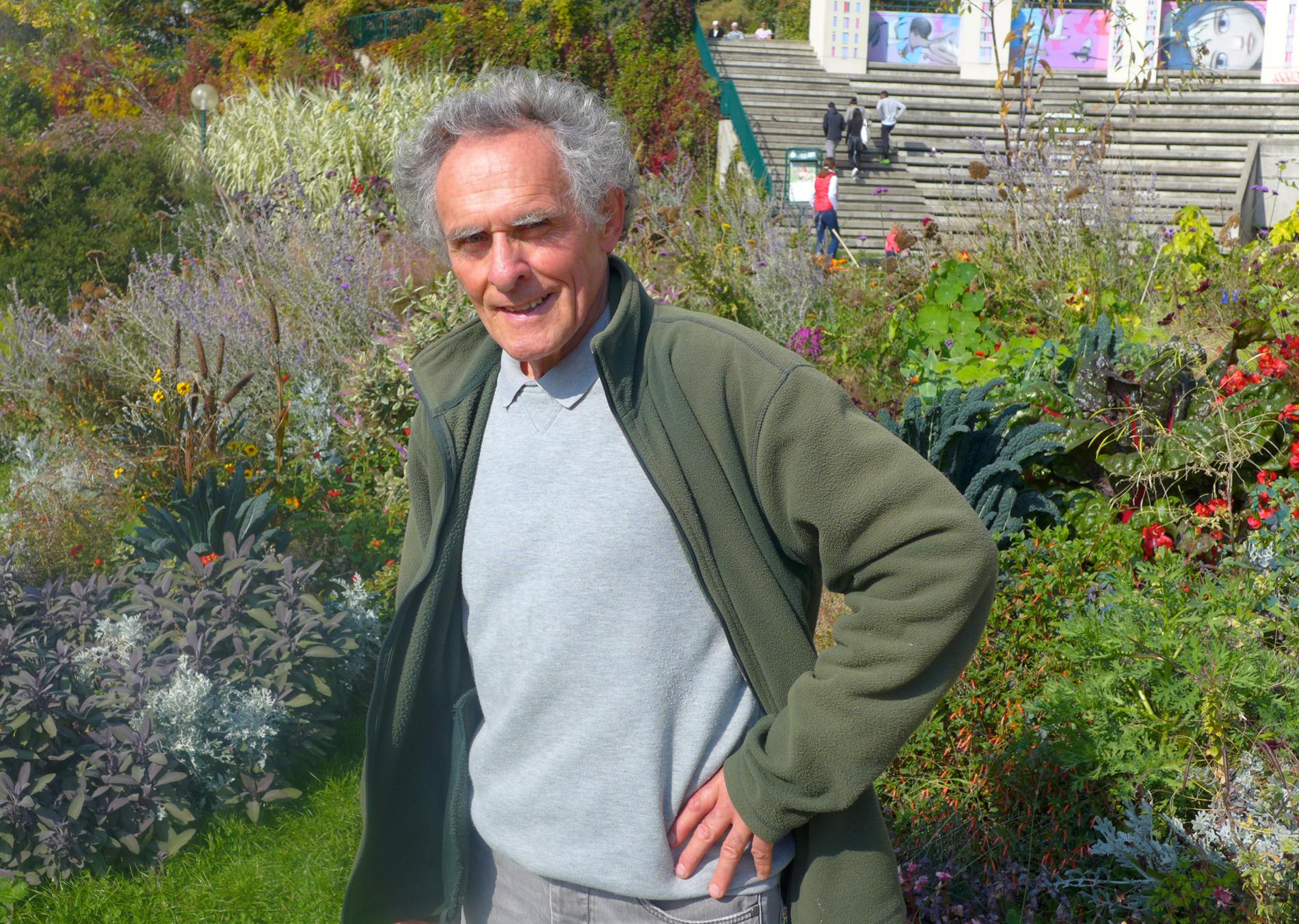Bellevillen pääpuutarhuri Gérard Joubert luottaa luonnon kielen viisauteen. © Tripsteri