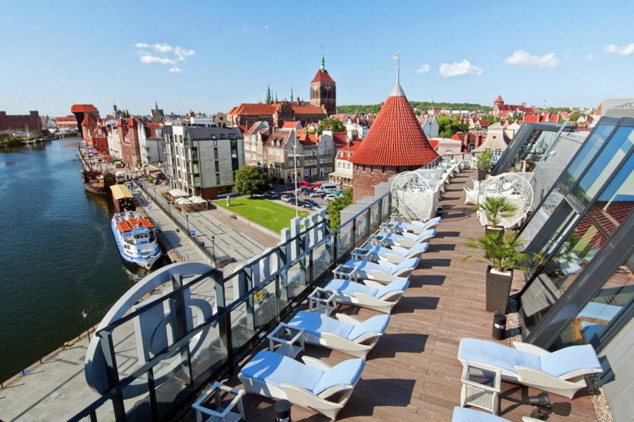 Hiltonin kattoterassi. ©Hotel Hilton Gdańsk