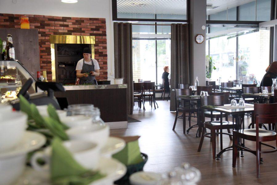 Avara Vileen kahvila sijaitsee entisessä pankkikonttorissa.