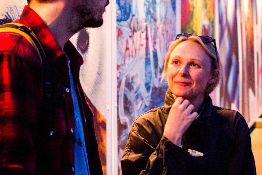Saksalaiset toimittajat Jochen ja Katharina olivat Flow Festivalissa ensi kertaa. © Aapo Kojo