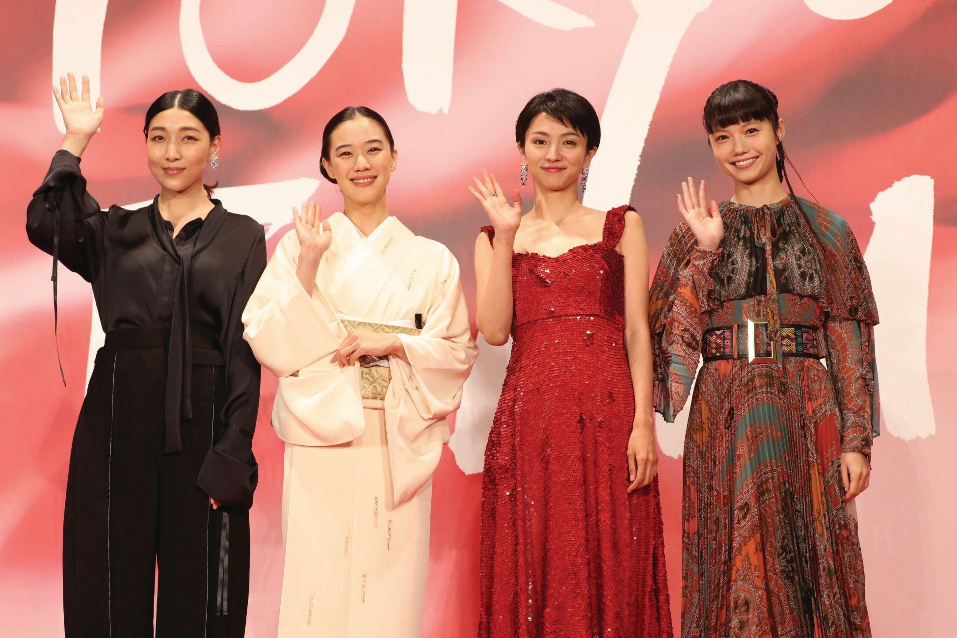 Sakura Ando, Hikari Mitsushima, Yu Aoi ja Aoi Miyazaki (c)2017 TIFF