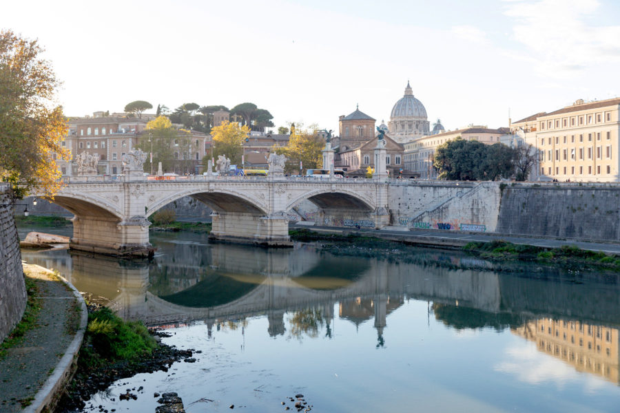 Ponte Sant'Angelo ja Tiber-joki © Tuulia Kolehmainen
