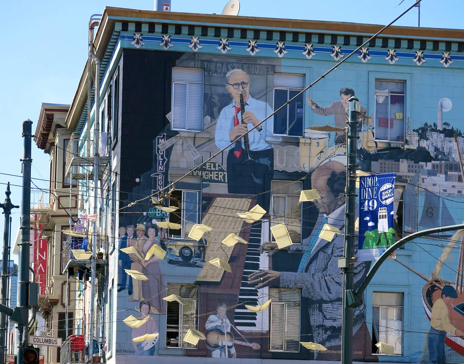 Kun näet tämän muraalin, olet saapunut North Beachille. Kuva: Torbakhopper, Flickr.com, CC BY-ND, 2.0