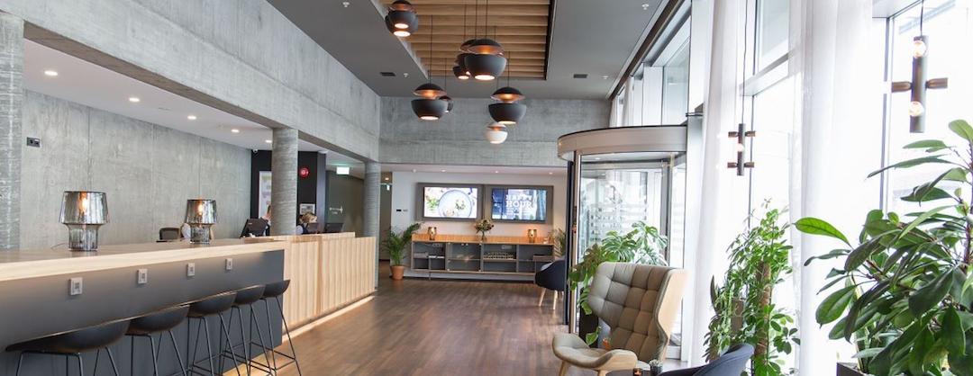 Midgardur on uusi keskitason hotelli, erittäin keskeinen sijainti Reykjavikin ytimessä. Kuva: Center Hotels.