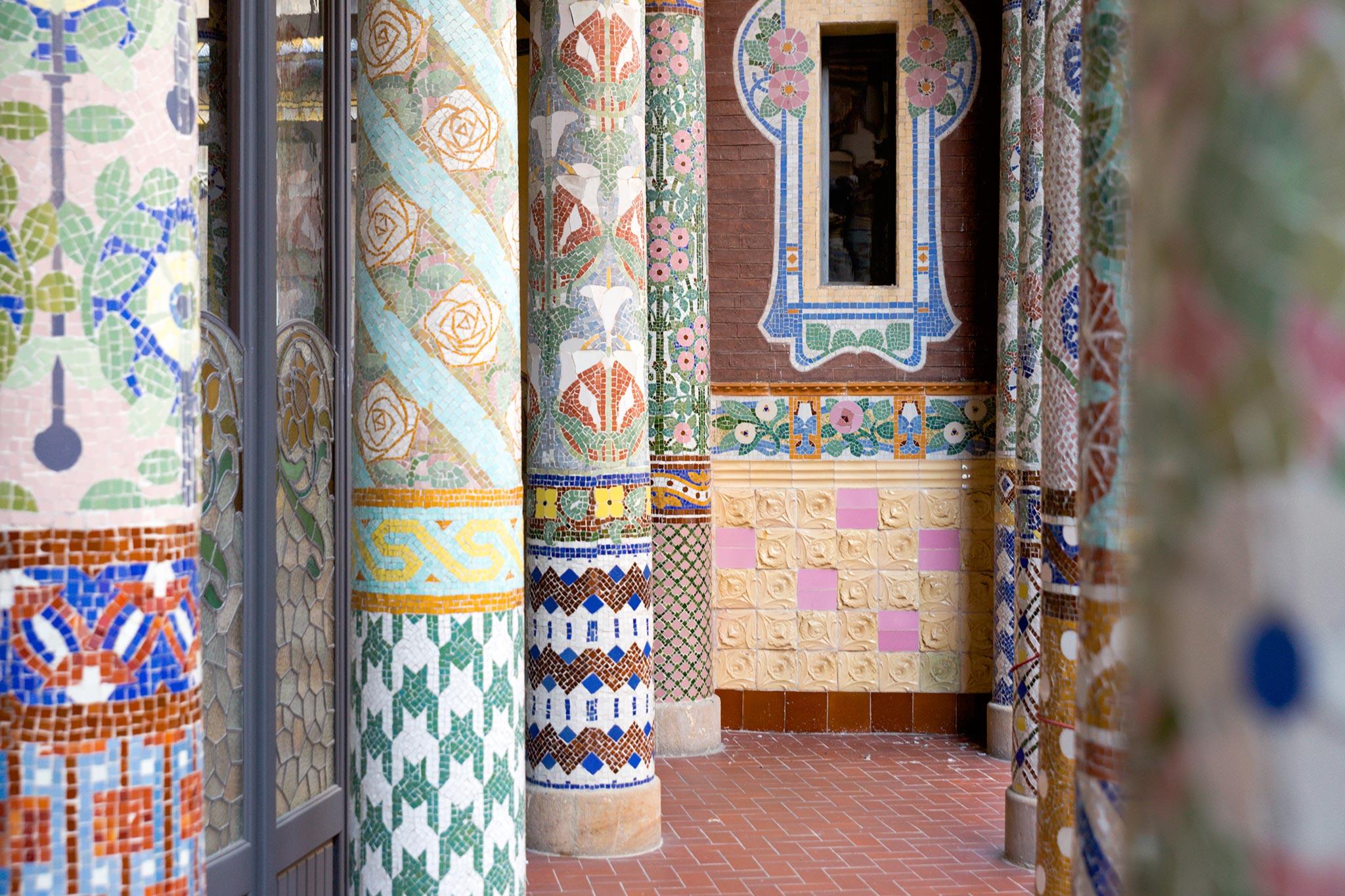 Barcelonan Klassiset Musiikkipalatsit Modernistinen Palau De La