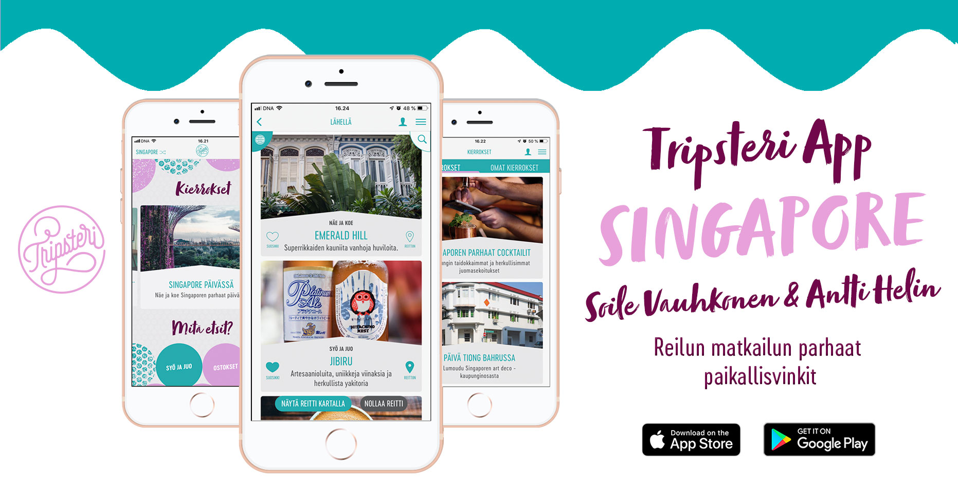 Tripsteri App Singapore banneri