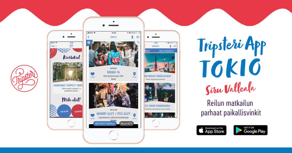 Tripsteri App Tokio banneri