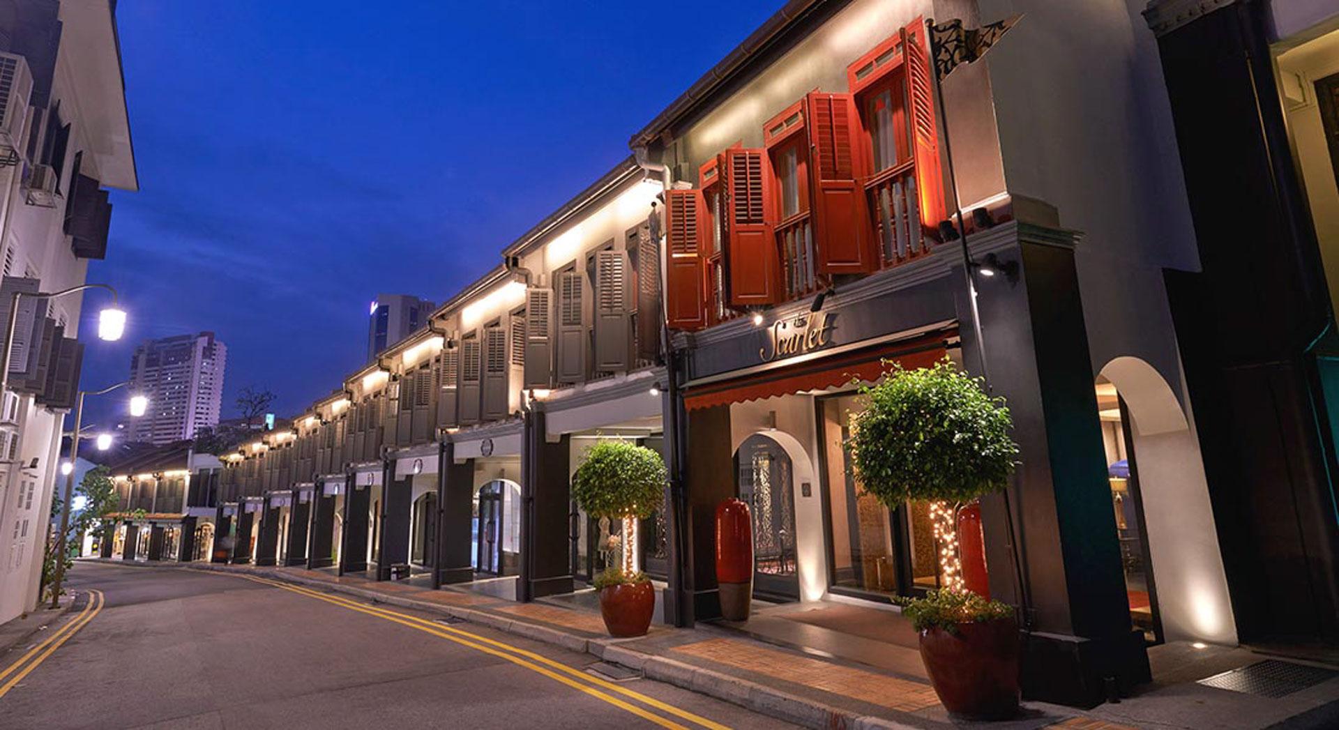 The Scarlet Singaporen etusivu. Kuva: The Scarlet Singapore