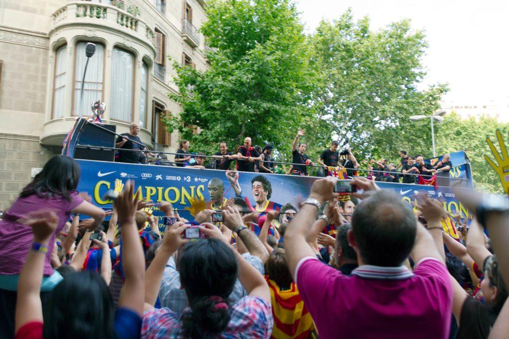 Barçan Champions liigan voitonkulkue 2009 Barcelonassa © Tuulia Kolehmainen