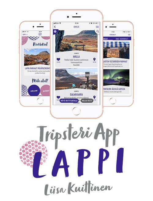 Tripsteri App Lappi banneri