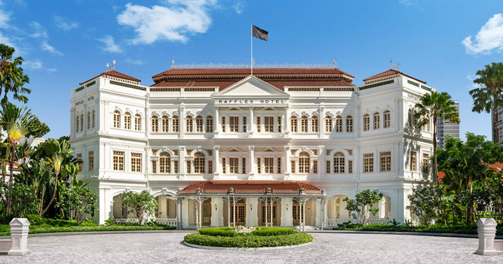 Raffles hotelli on Singaporen tunnetuin luksushotelli. Kuva: Raffles Hotel