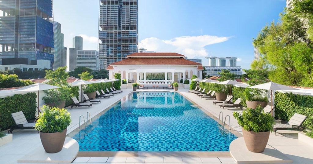 Raffles hotellin uima-allas. Kuva: Raffles Hotel