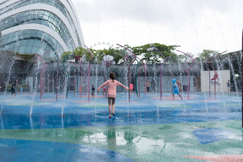 Kids Garden on ilmainen vesileikkipaikka lapsille. Kuva: Soile Vauhkonen