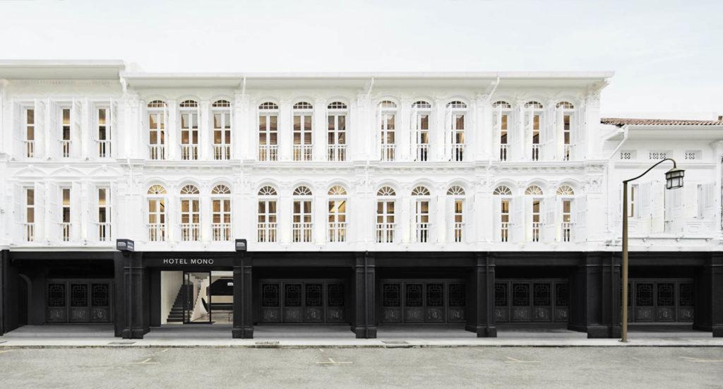 Hotel Mono on rakennettu riviin restauroituja kiinalaistaloja. Kuva: Hotel Mono