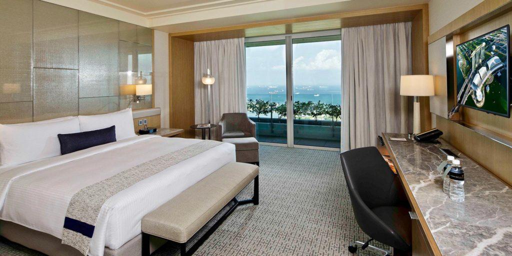 Marina Bay Sandisin huoneista on upeat saaristonäkymät. Kuva: Marina Bay Sands