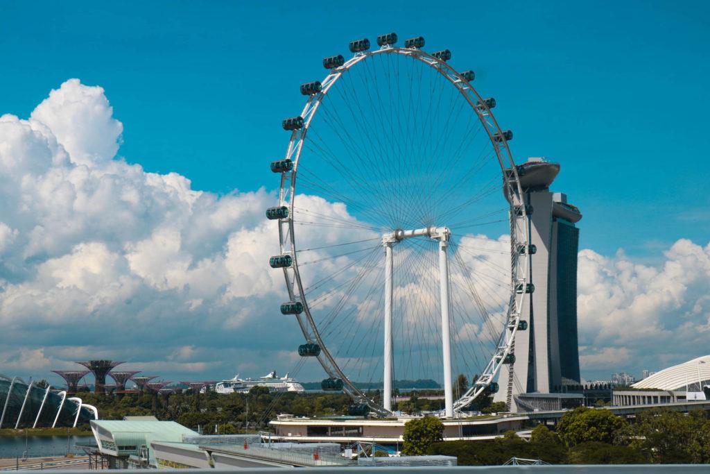 Singapore Flyer on maailman toiseksi suurin maailmanpyörä. Kuva: Gem Lyn - Unsplash