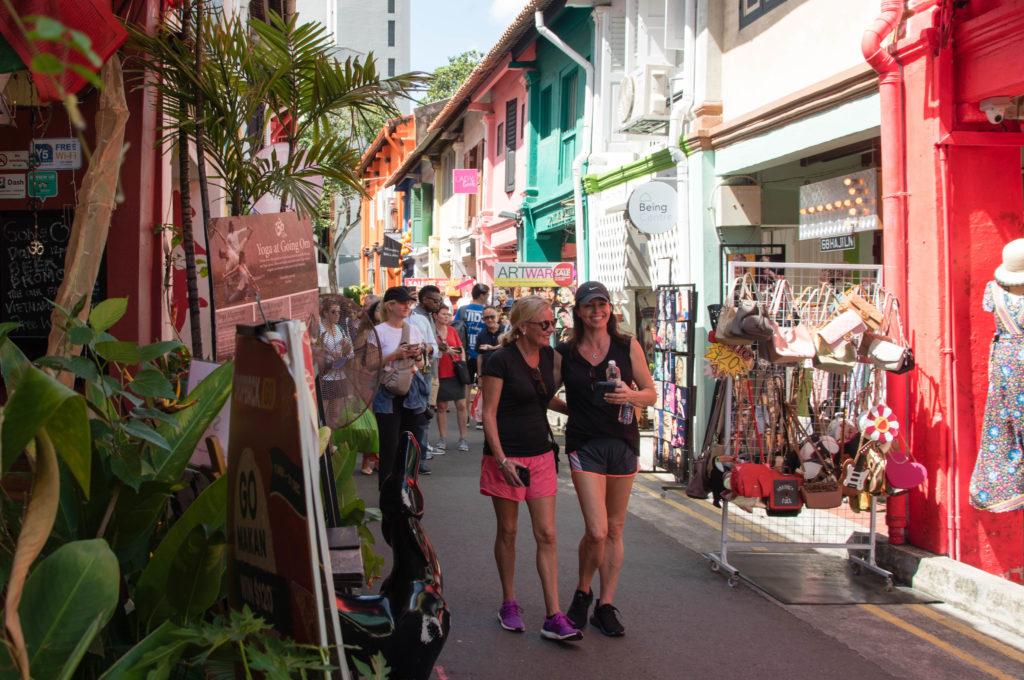 Värikäs Haji Lane Singaporen Arabikortteleissa. Kuva: Soile Vauhkonen