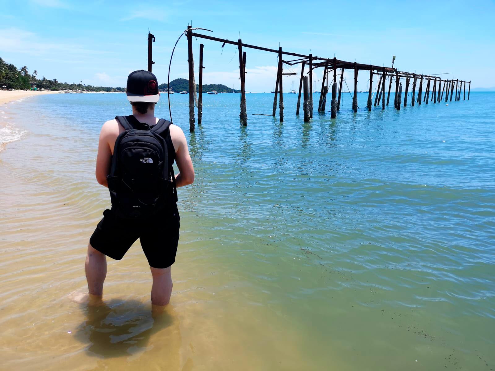 Bophut Beach, sijaitsee Koh Samui Fisherman's Villagessa.