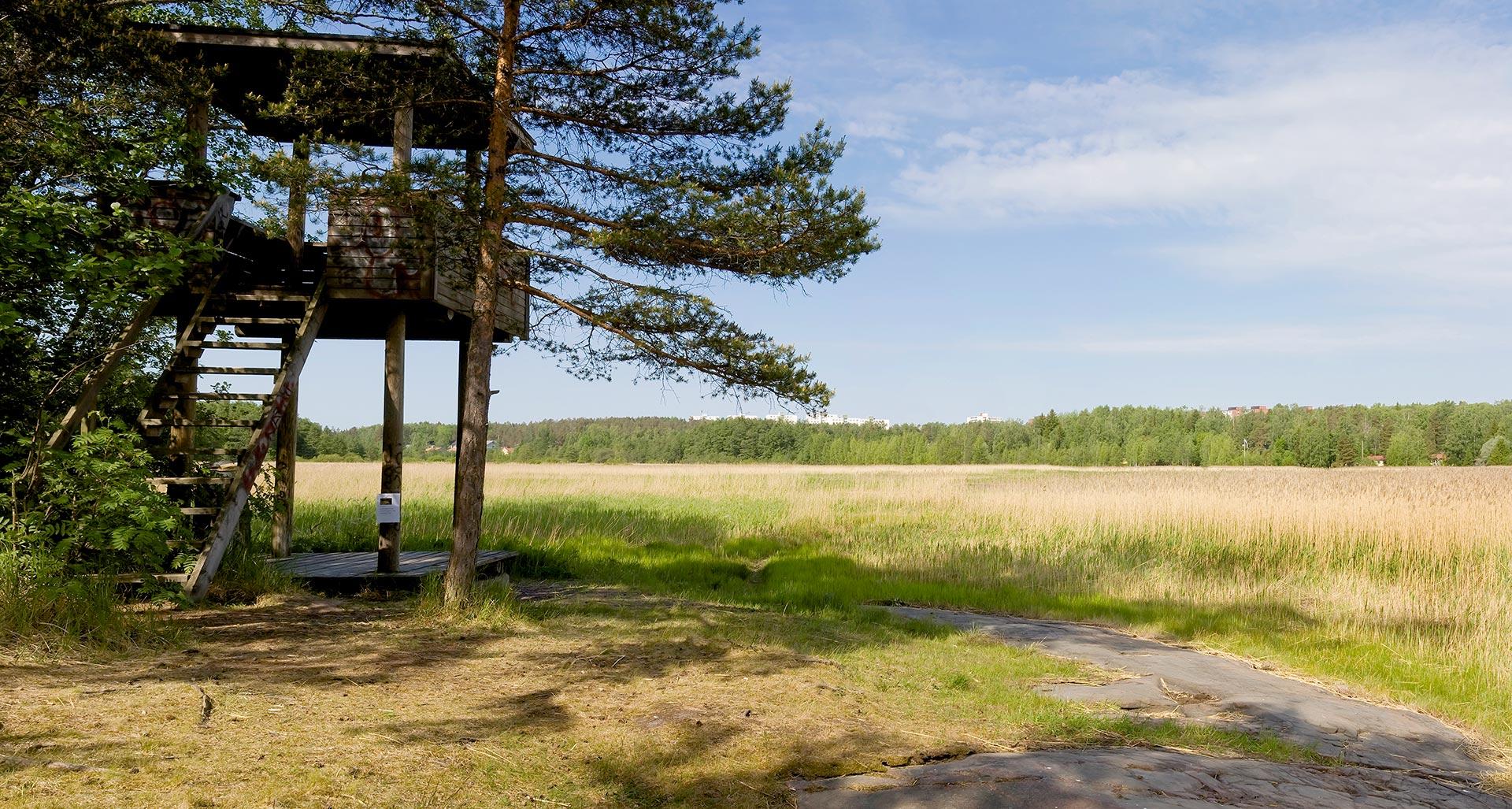 Hanikan luonnonsuojelualue ja lintutorni © Visit Espoo