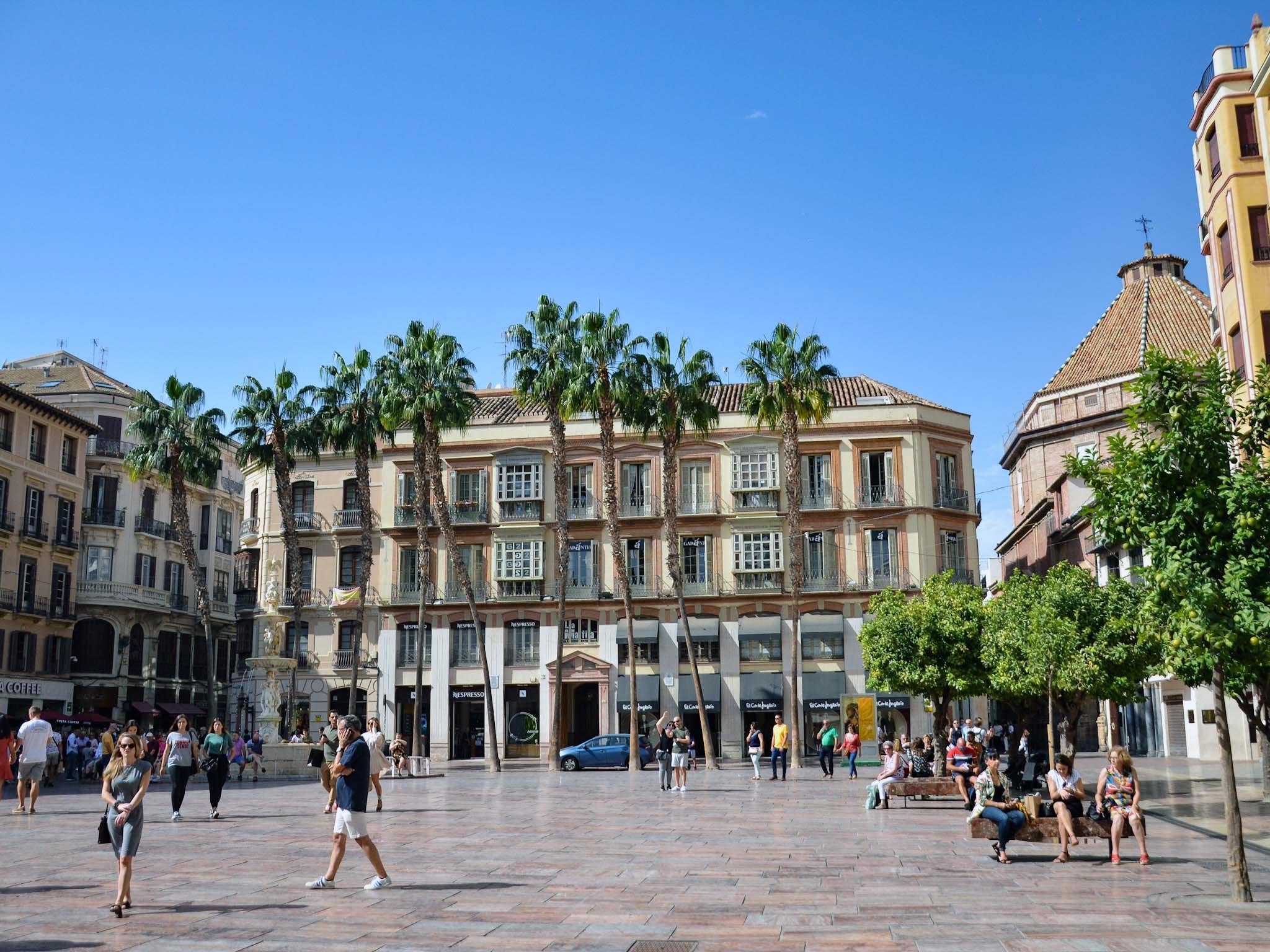 Málagan pääaukio © Eeva-Maria Hooli