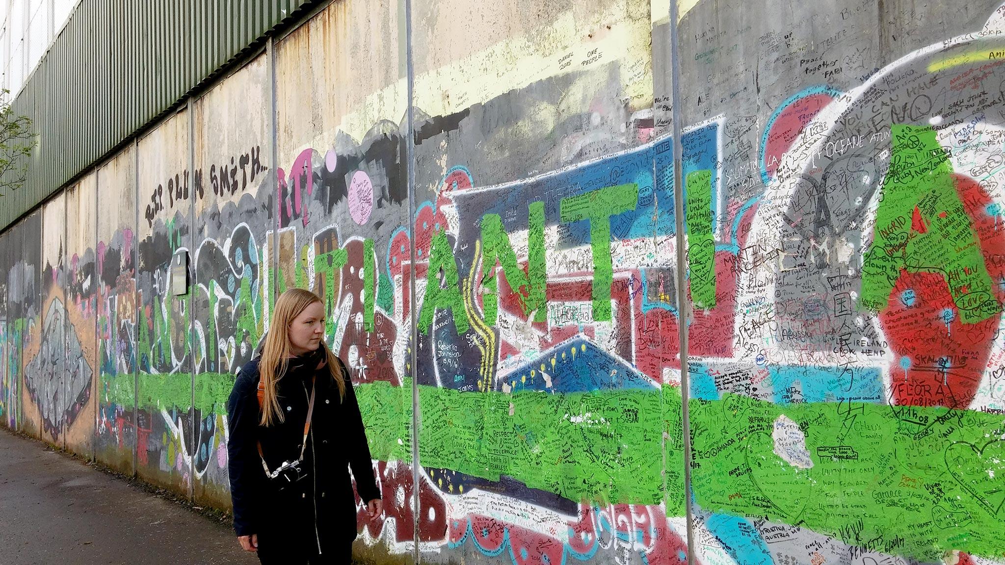 Belfastin muuri. Kuva: Lilja Laakso